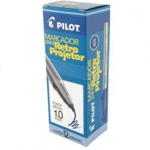 Marcador P/Retroprojetor 1.0 mm Azul  cx c/12 Pilot