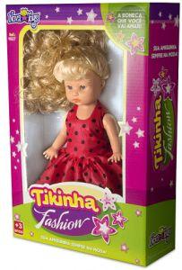 Boneca Tikinha Fashion Branca - Nova Toys