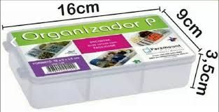 Box Organizador  P 05 Divisorias  16x9x3,5  142 - Paramount