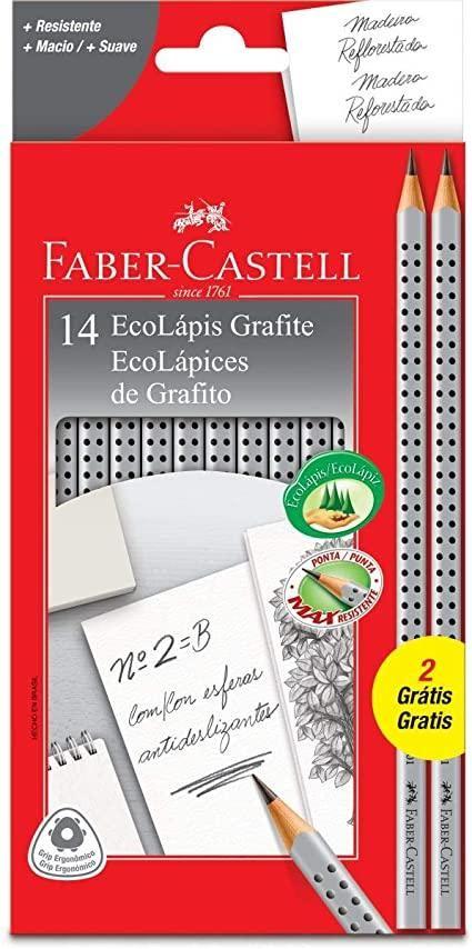 ECOLAPIS GRAFITE GRIP 2001-B C/12 FABER-CASTELL