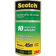 Fita de Empacotamento Scotch  transparente 45 mm x 45 m -3m