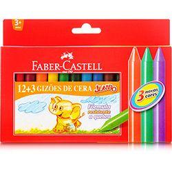 Gizão de Cera Jumbo c/ 12+3 Faber-Castell