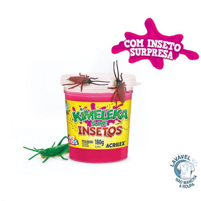 Kimeleka Slime 180g Insetos - Acrilex