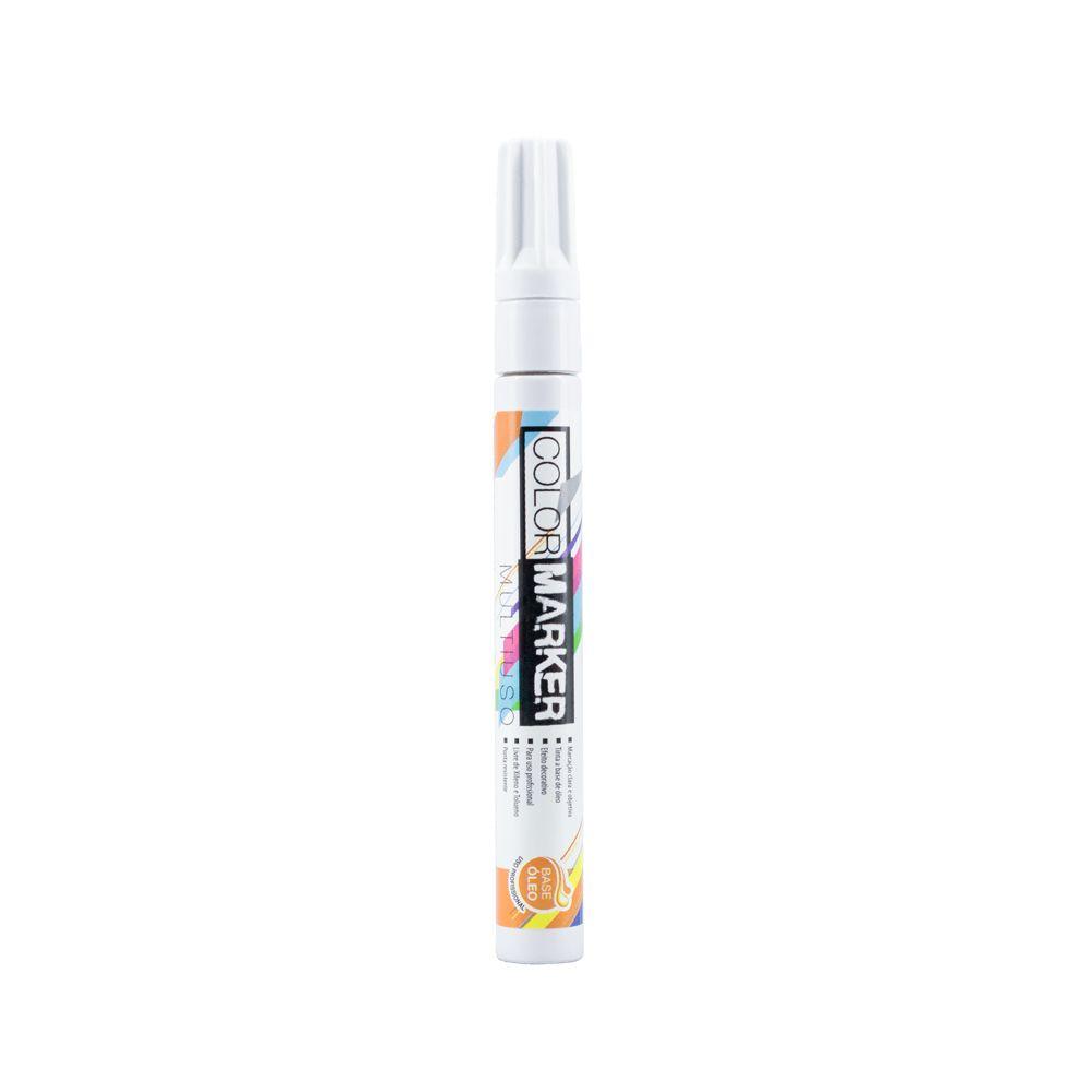 Marcador Color Marker Multiuso Base de Oleo  Branca - Acrilex