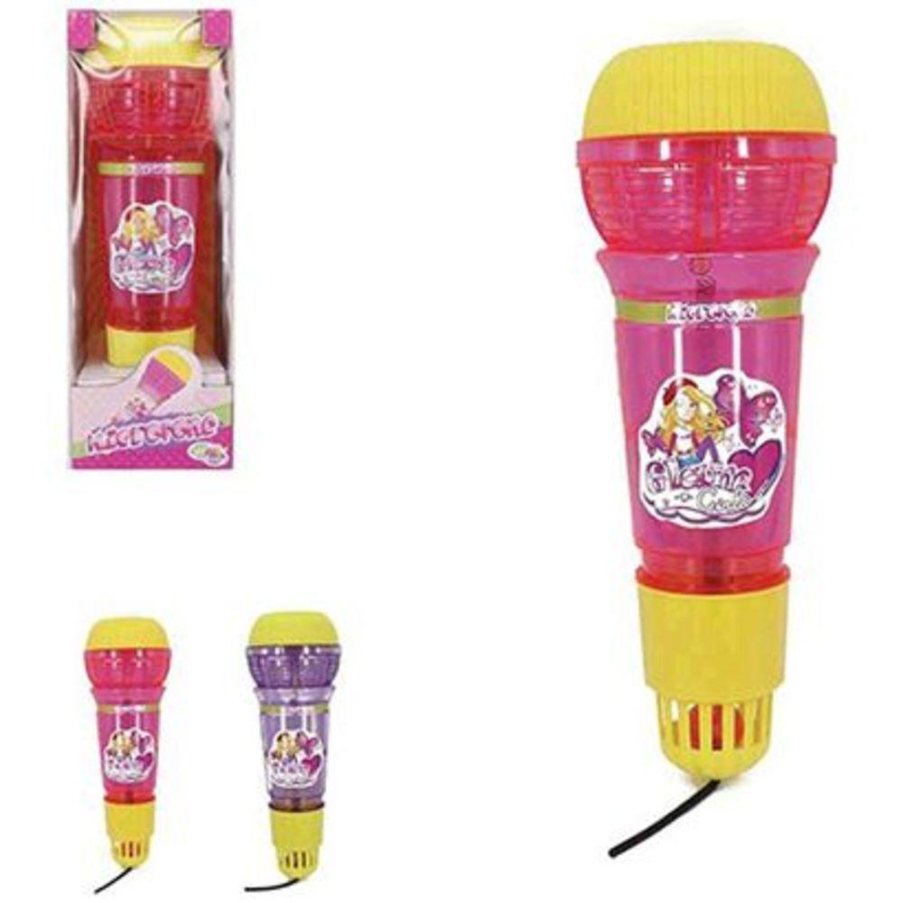 Microfone Infantil com Eco e Luz Heros Squad Glam Girls - Wellmix