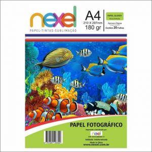 PAPEL FOTOGRAFICO  180GM A/4 C/20 FLS - NEXEL