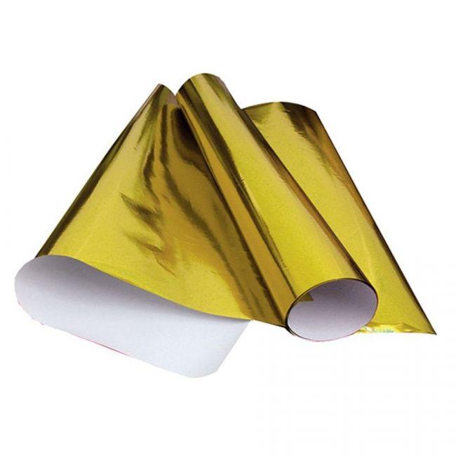 Papel Laminado 48 x 60cm Amarelo