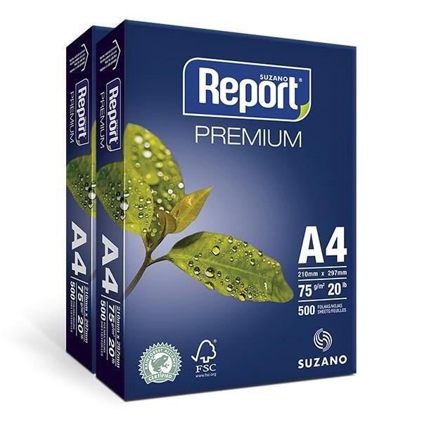 Papel Sulfite A4 75Gr. 210 X 297Mm Caixa C/10 Pt 500Fls - Report