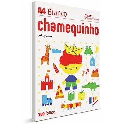 Papel Sulfite A4 Com 100 Folhas Chamequinho BR.