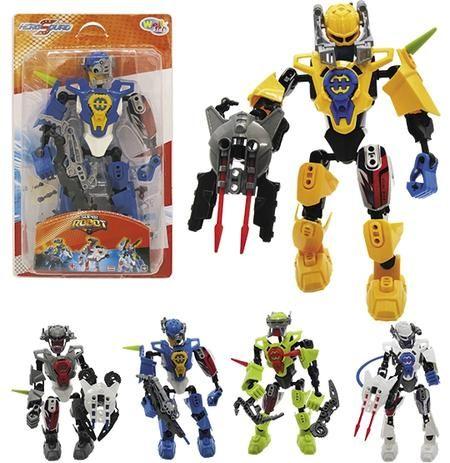 Robo Hero Squad Espacial Super Robot Sortidos Na Cartela Wellkids- Wellmix
